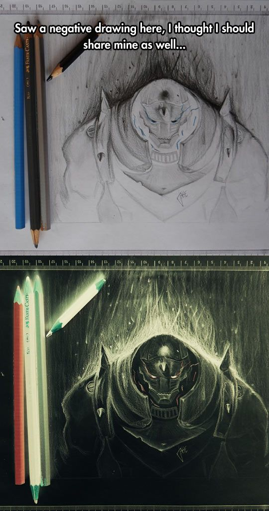 540x1026 Negative Drawings Are Amazing Drawings, Alchemist And Fullmetal
