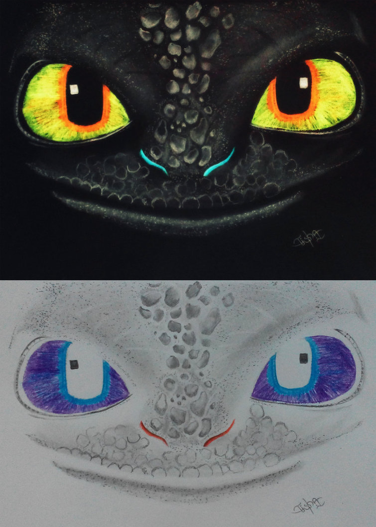 755x1057 Negative Drawing Of Toothless ) By R Tisha