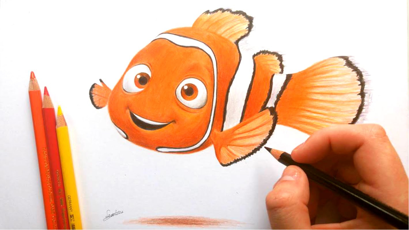 1419x799 Drawing Of Nemo The Fish Drawing Nemo From Disneys
