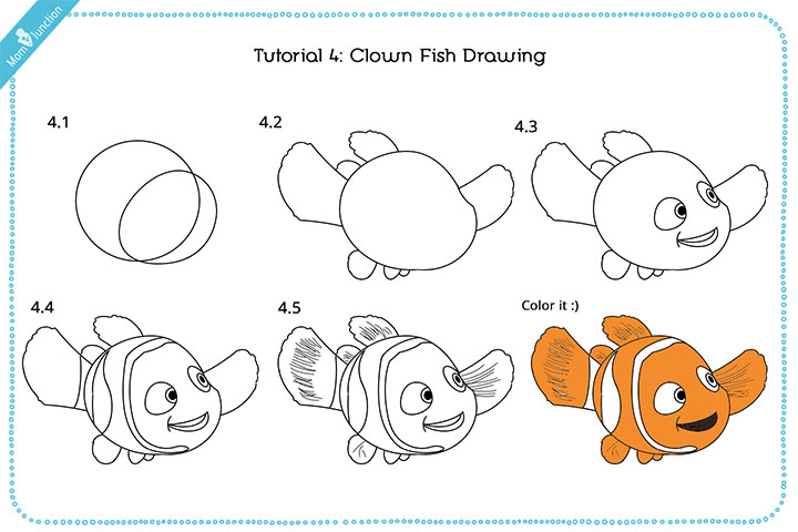 720x480 How To Draw A Fish Step By Step For Kids