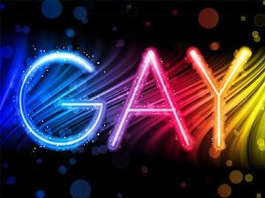 300x224 Art Print Poster Painting Drawing Gay Pride Neon Lights Picture