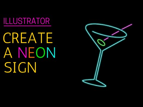 480x360 Make A Glowing Neon Sign In Illustrator