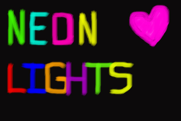 600x400 Neon Lights An Abstract Speedpaint Drawing By Memorawr