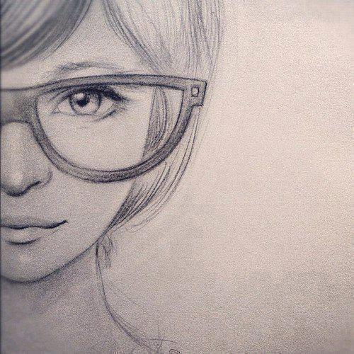 500x500 Nerdy Girl Drawingsa