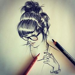 Nerd Girl Drawing At GetDrawings