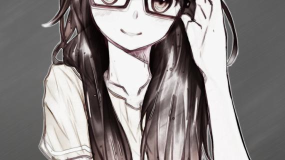 drawings girls glasses nerd for Cute