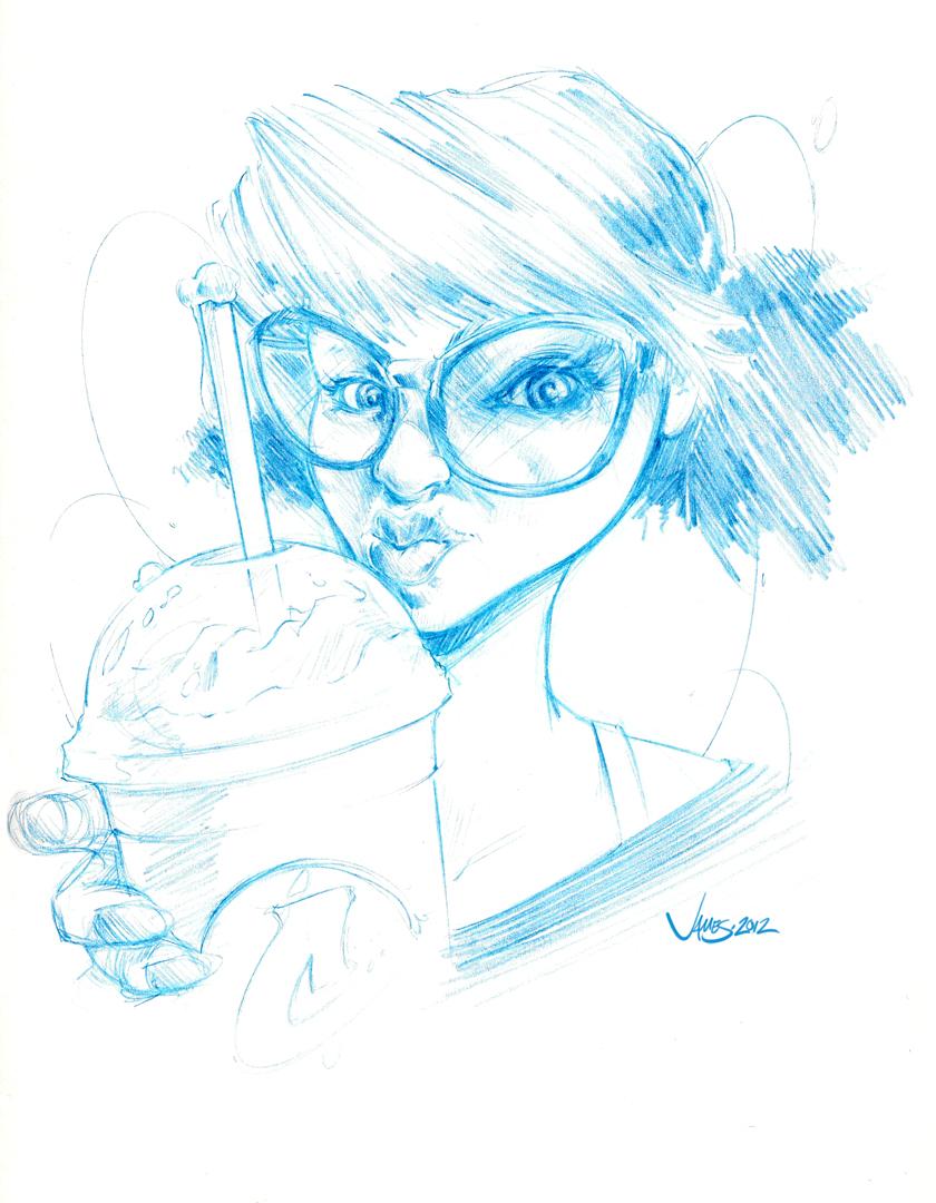 840x1080 Jim Stigall Nerdy Girl Sketches Round 1