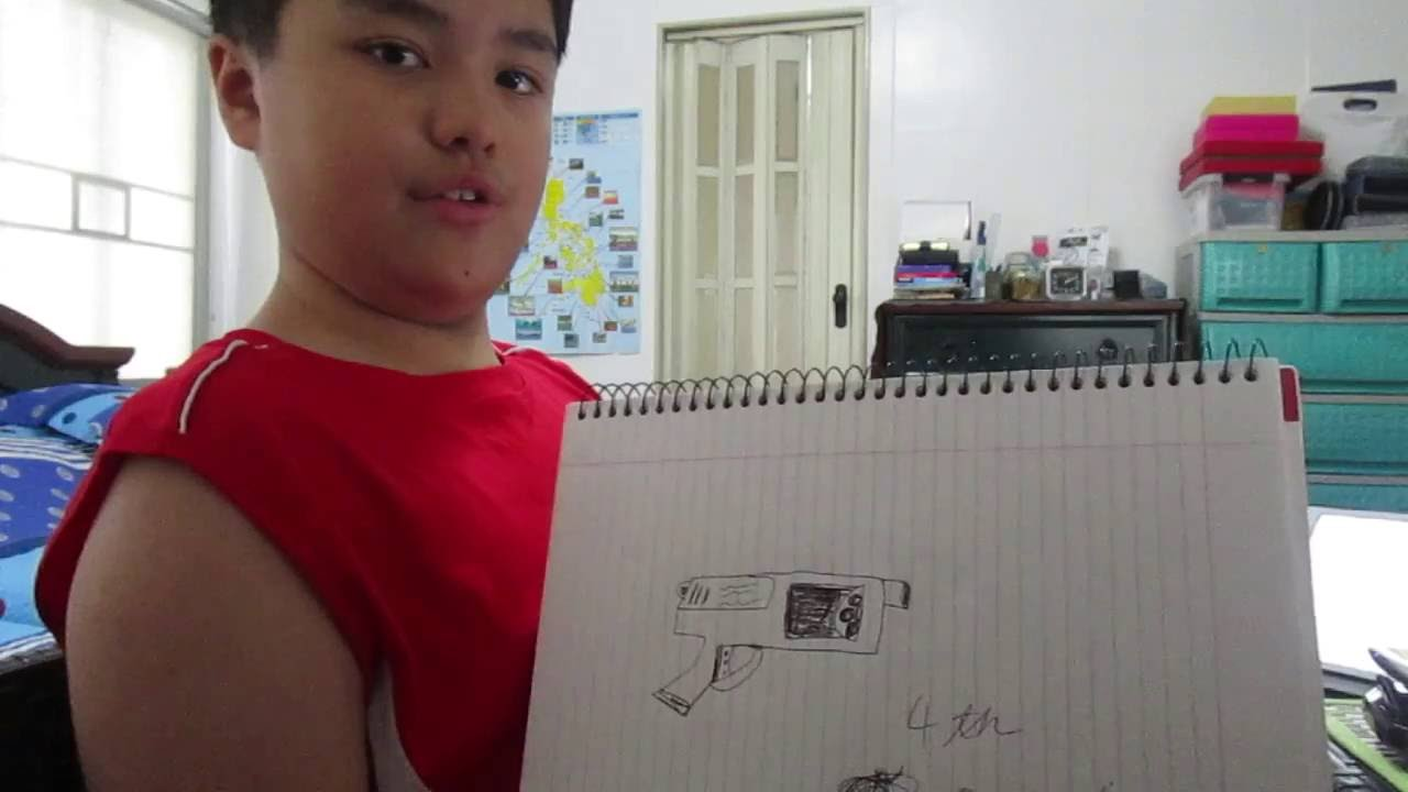 1280x720 DRAWING NERF GUNS!