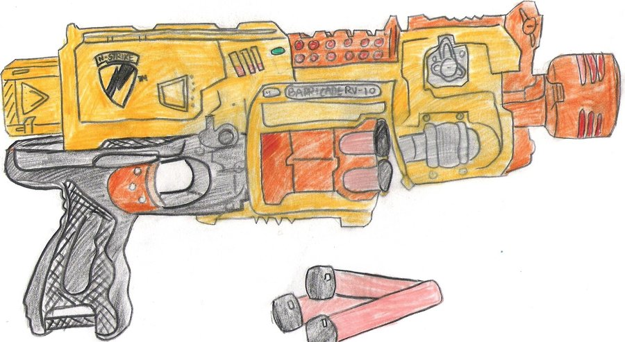 900x493 nerf gun by Tazebama on DeviantArt