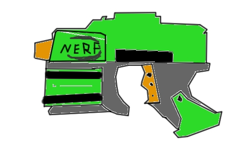 470x338 nerf gun by mujaab123 (still life drawing)