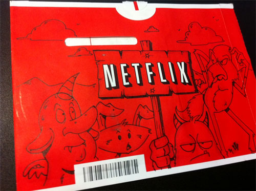 500x373 People Started Drawing On Their Netflix Mail. Too Awesome