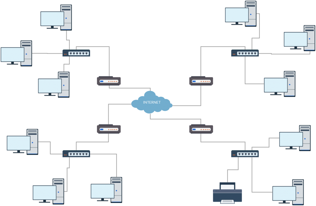 Network Diagram Drawing at GetDrawings.com | Free for personal use on