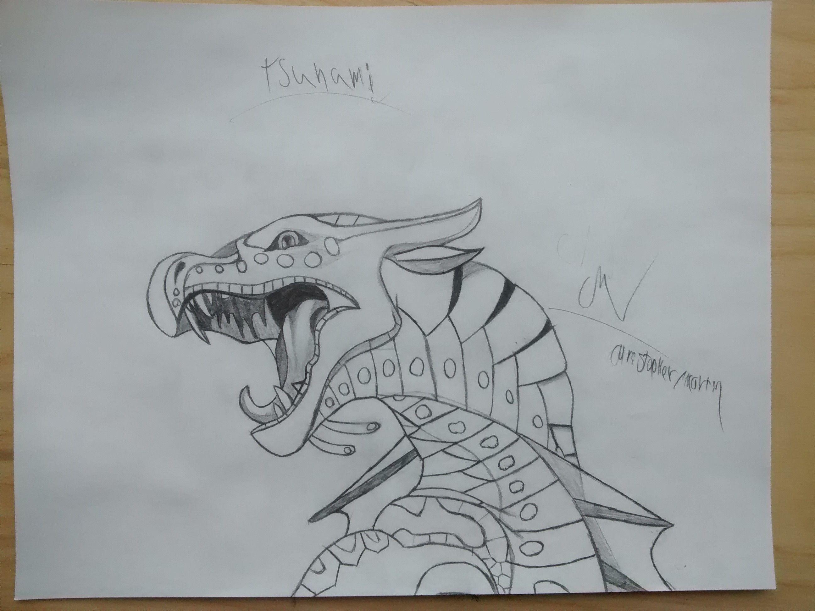 2592x1944 My New Drawing Of Tsunami The Seawings. Mon Nouveau Dessin De