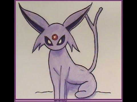 480x360 How To Draw Espeon Pokemon Tutorial Easy New!