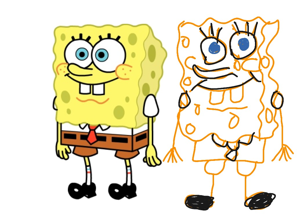 1024x768 New Easy Spongebob Drawing 12