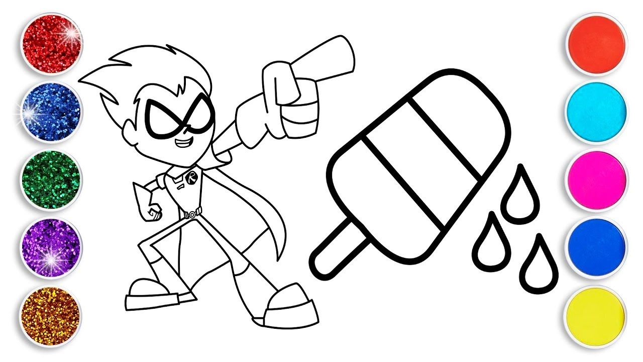1280x720 New Year Coloring Pages Robin And Ice Cream Learn Colors