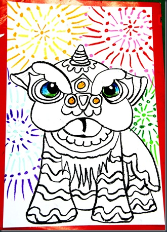330x458 Chinese New Year Drawing Lesson .did This With 11, 9, And 5 Year