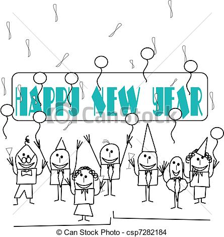445x470 Happy New Year Drawing Image Merry Christmas Amp Happy New Year