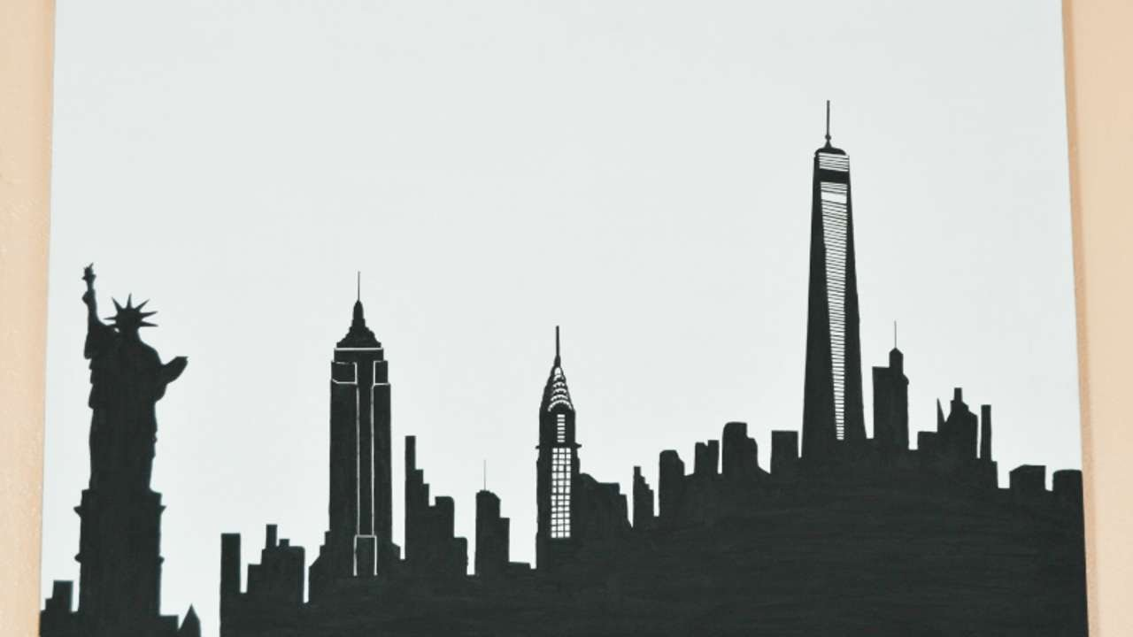 1280x720 How To Draw A Skyline Silhouette Of New York