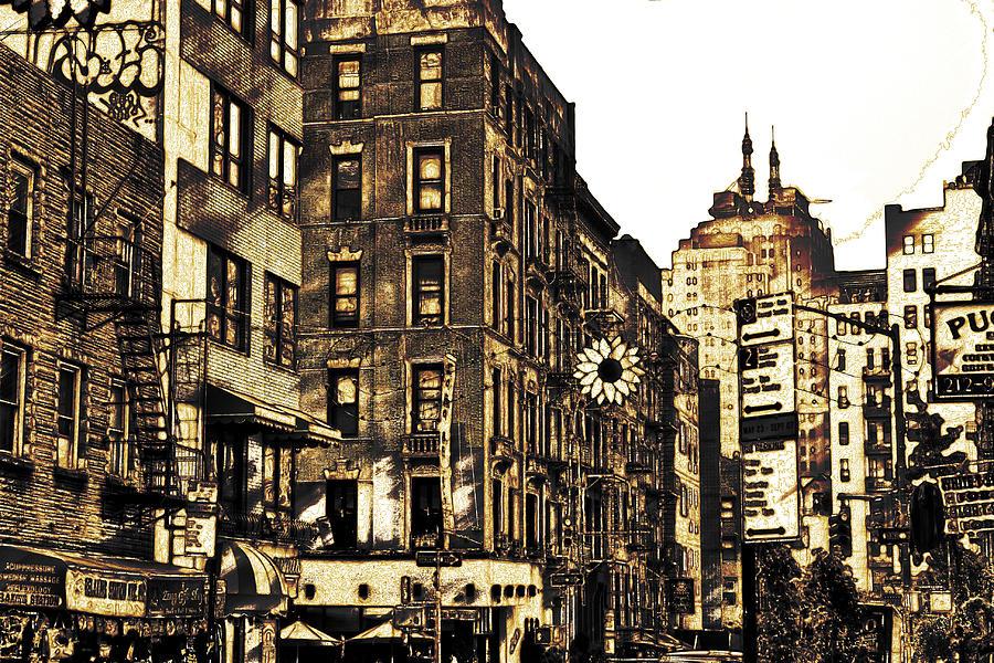 900x600 New York City Digital Drawing Digital Art By Eric Ziegler