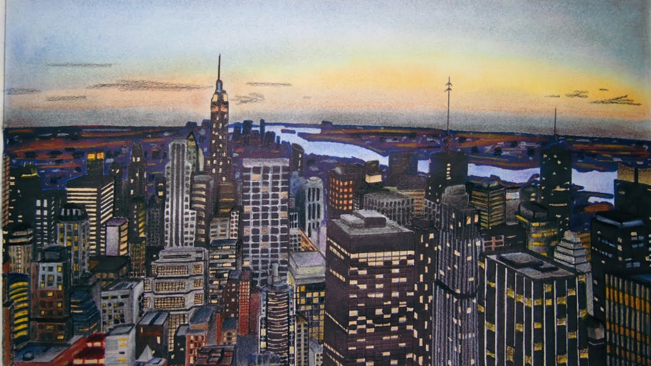 1280x720 New York City Drawing (Time Lapse)