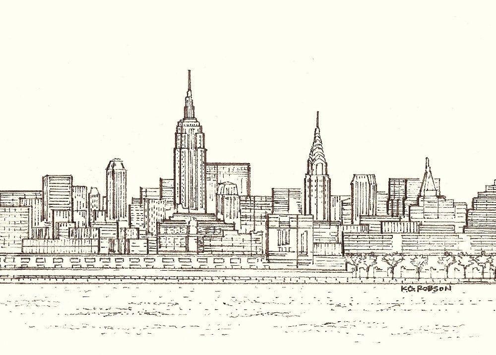 1000x716 New York City Skyline. My Style City Skylines