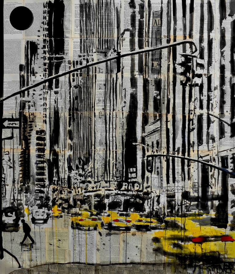 770x896 Saatchi Art Somewhere In New York City Drawing By Loui Jover