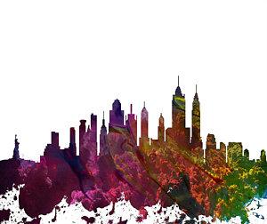 300x252 New York Skyline Drawings Fine Art America