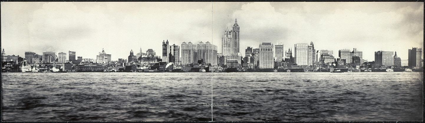 1442x420 New York Skyline, 1908