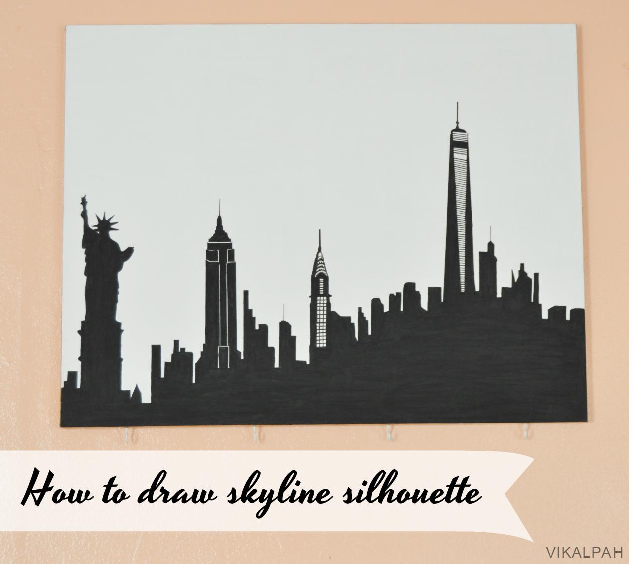 1262x1132 Vikalpah How To Draw Skyline Silhouette + Ny Gallery Wall