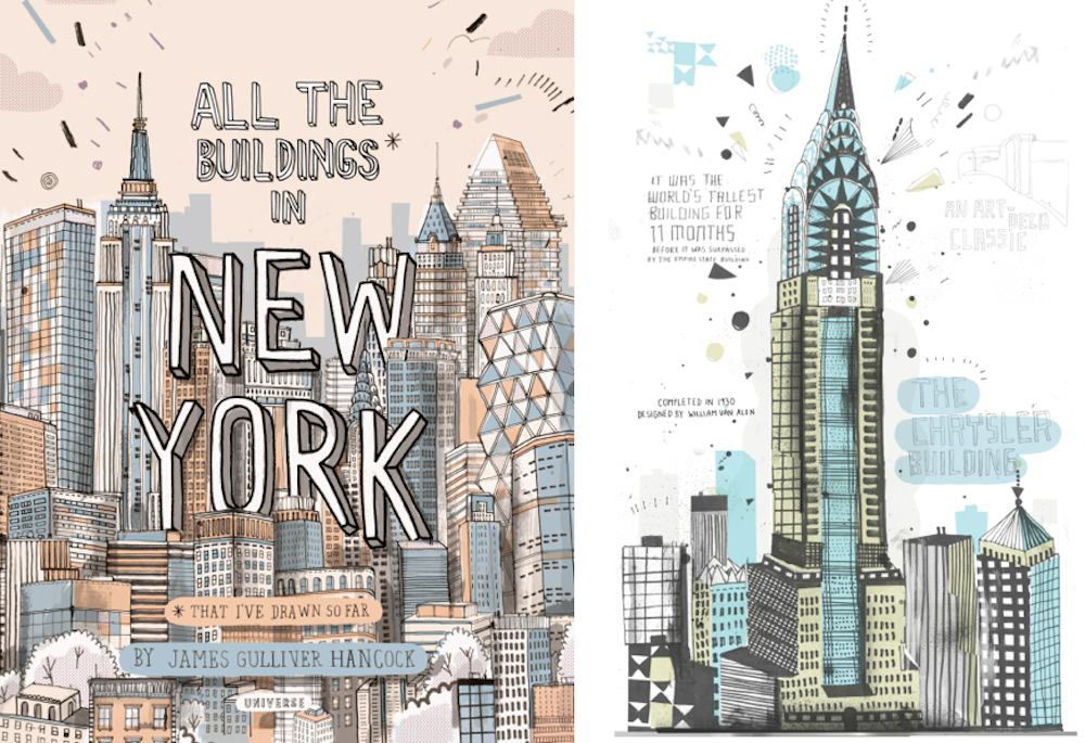 1000x685 All The Building Of New York Sketches Book