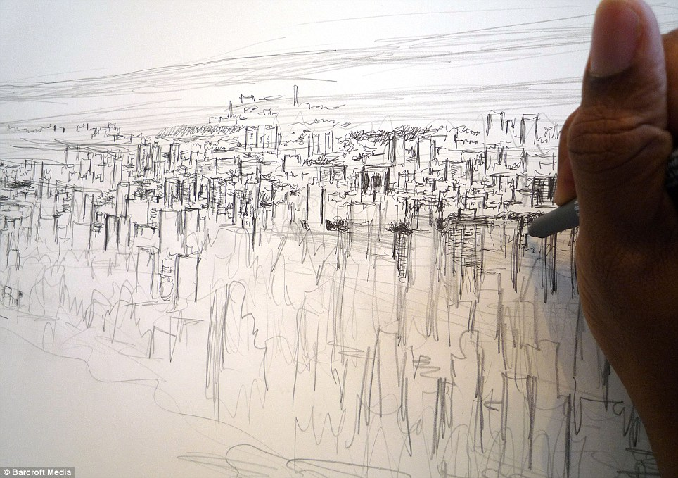 964x679 Autistic Artist Draws 18ft Picture Of New York Skyline From Memory