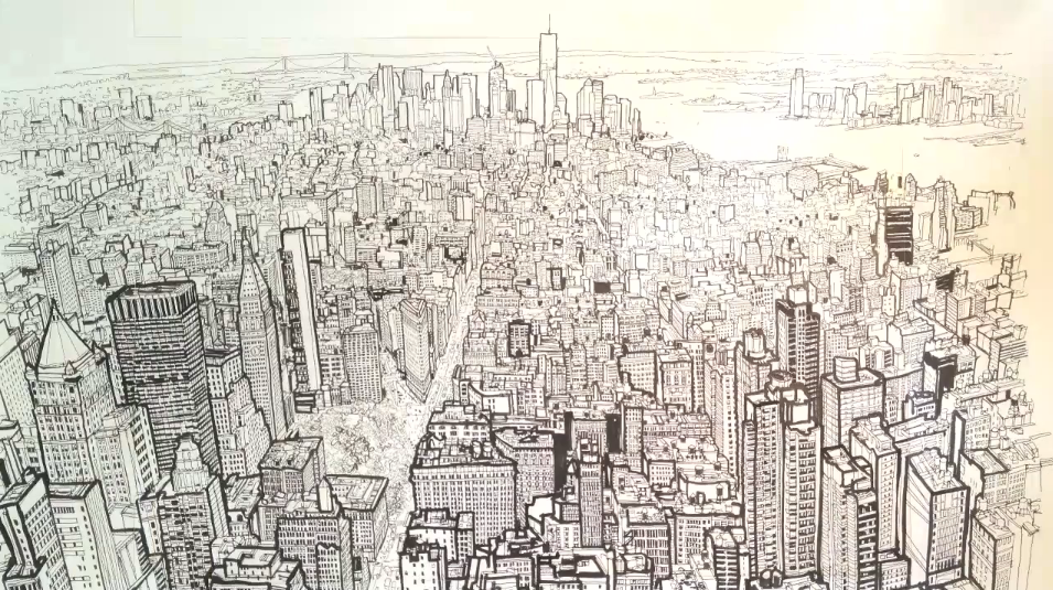 955x535 Patrick Vale's Timelapse Drawing Of The New York Skyline
