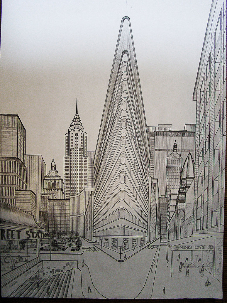 774x1032 Double Perspective Drawing Ny By Nilsgermain