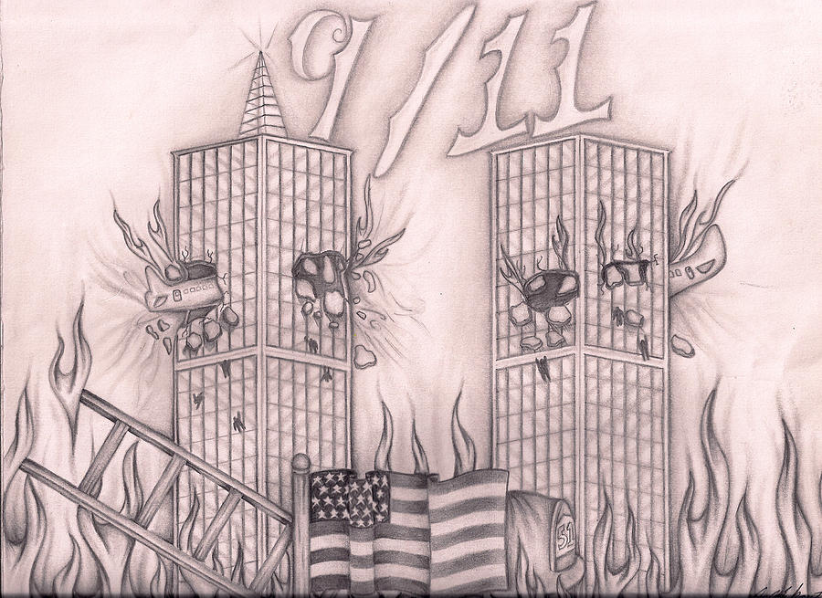 900x655 Tribute To New York Drawing By Jason Mikrut