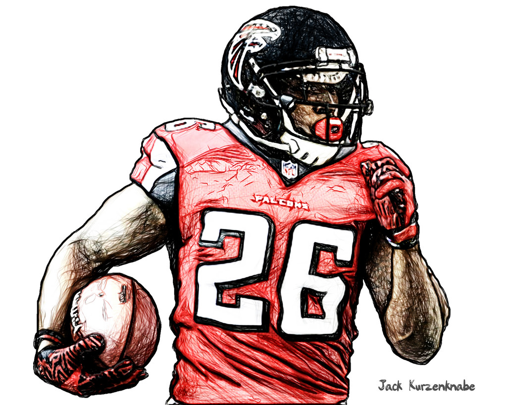 1024x819 Atlanta Falcons Tevin Coleman View All My Nfl Drawings