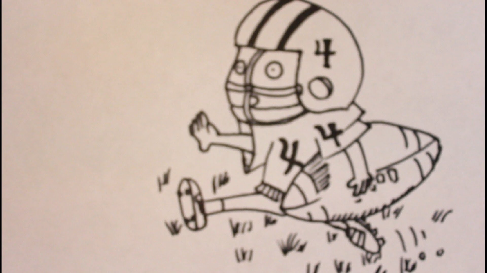 1920x1080 How To Draw A Cartoon Football Player Easy Step By Step Drawing
