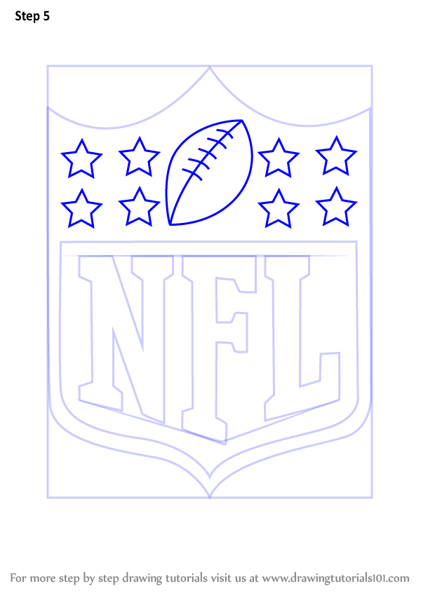 600x846 Learn How To Draw Nfl Logo (Nfl) Step By Step Drawing Tutorials