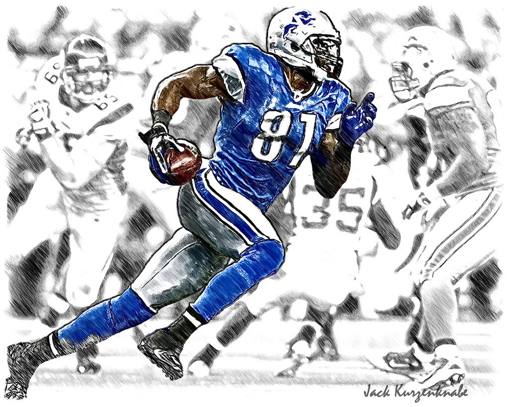 1024x819 0 Detroit Lions Calvin Johnson View All My Nfl Drawings