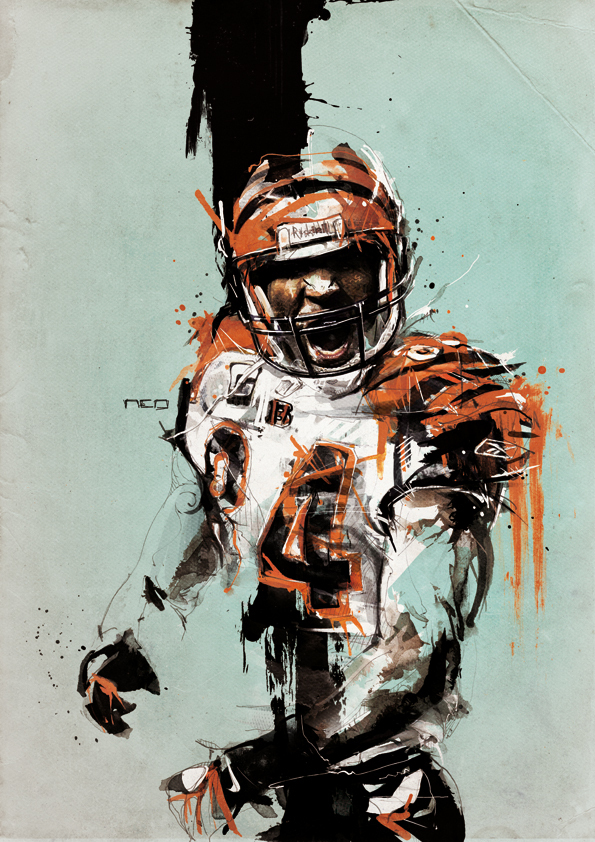 595x842 Awesome Illustrations Of Some Nfl Players By Florian Nicolle, A 26
