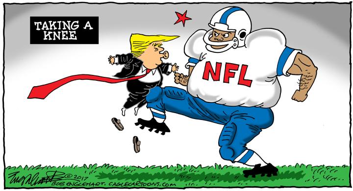 720x390 Cartoons Donald Trump And Nfl Players Take A Knee