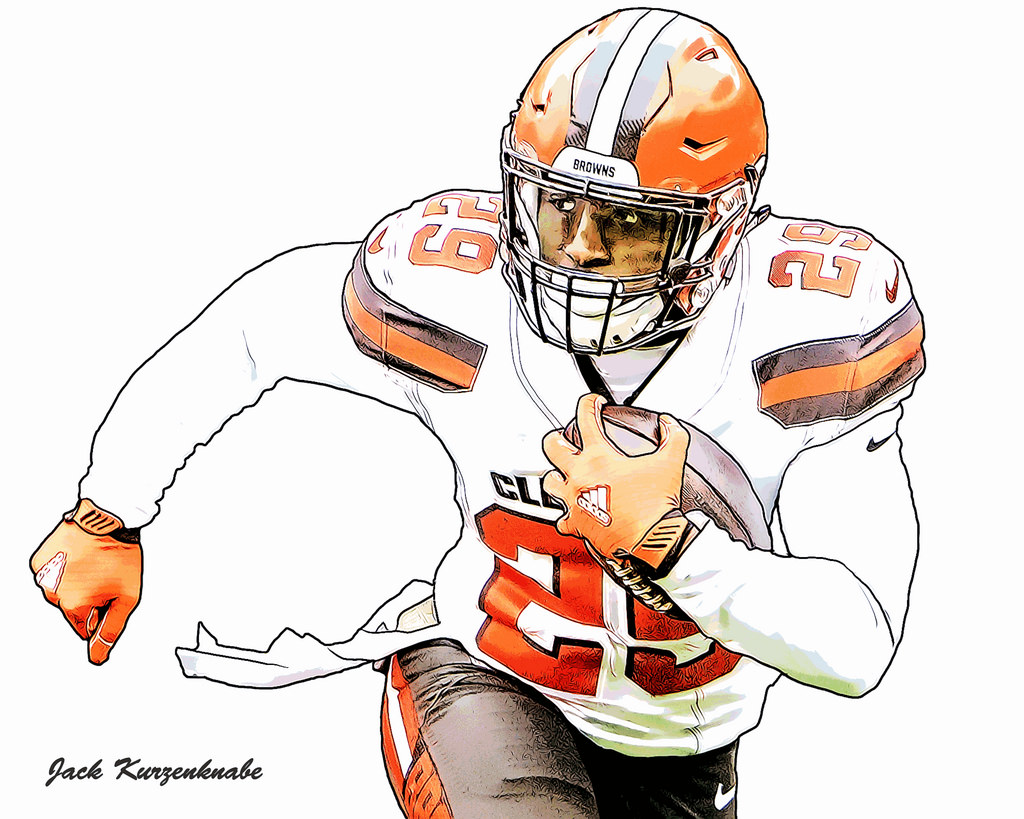 1024x819 Cleveland Browns Duke Johnson View All My Nfl Drawings