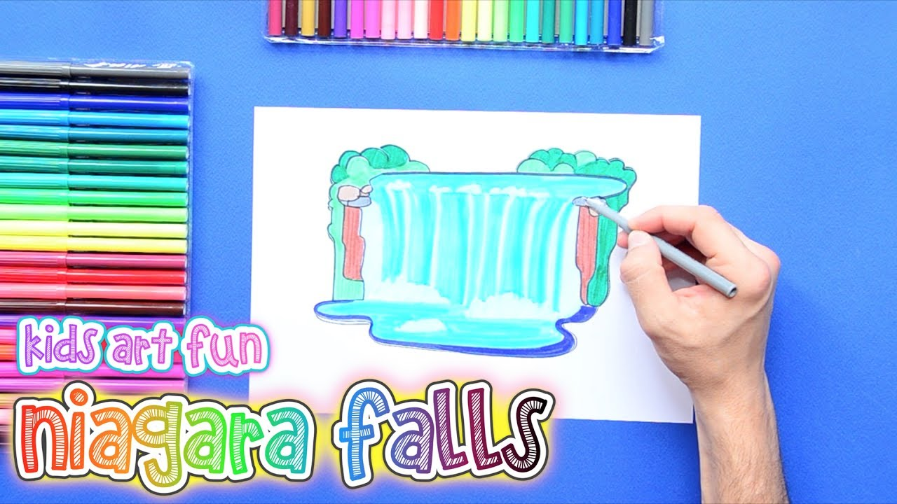 1280x720 How To Draw And Color The Niagara Falls