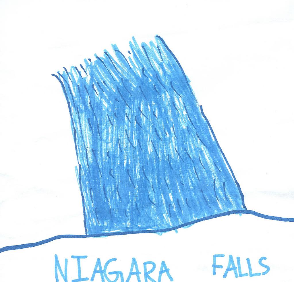 1024x982 Sanghoon's Niagara Falls (Drawing) Niagara Falls Design