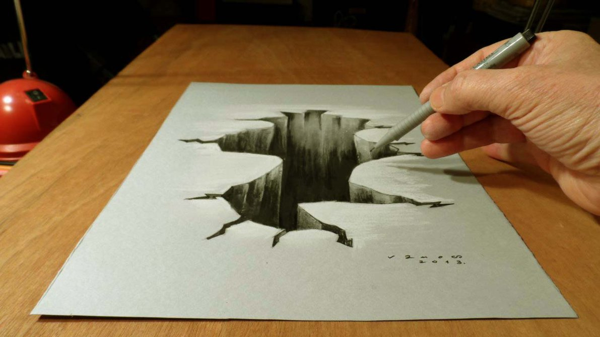 1191x670 Easy And Nice 3d Drawing Using Pencil And Paper Only Awesome 3d