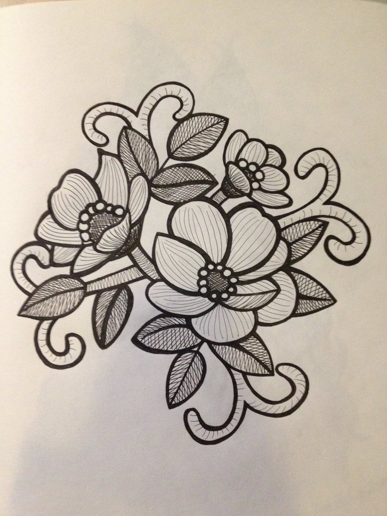 Nice Flower Drawing At GetDrawings