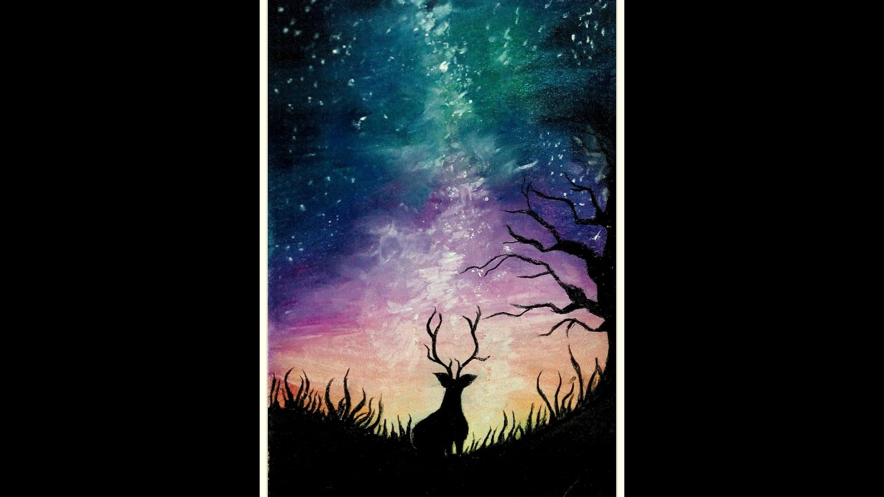 1280x720 Night Sky Soft Pastels Drawing How To Draw With Soft Pastels