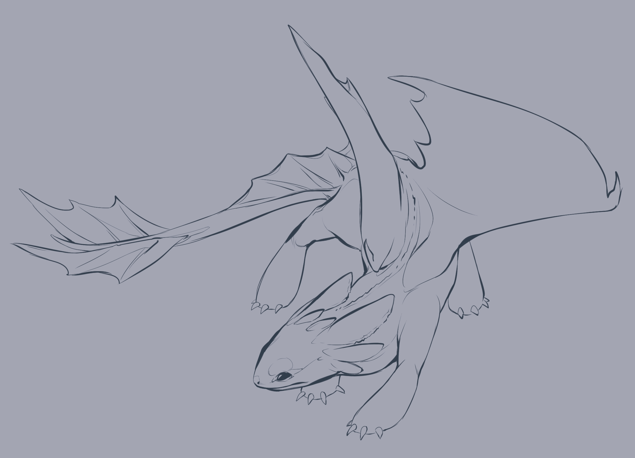 2230x1608 Baby Night Furies How To Train Your Dragon Night