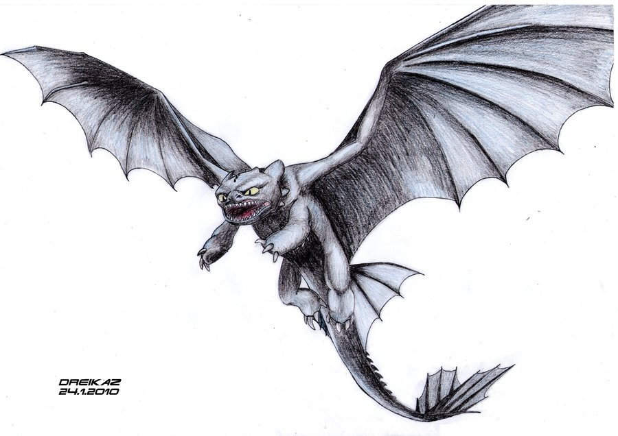 Night Fury Drawing At Getdrawings Com Free For Personal Use Night
