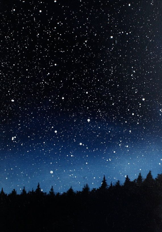 570x812 Night Sky Triptych Oil Painting Triptych, Night Skies And Oil